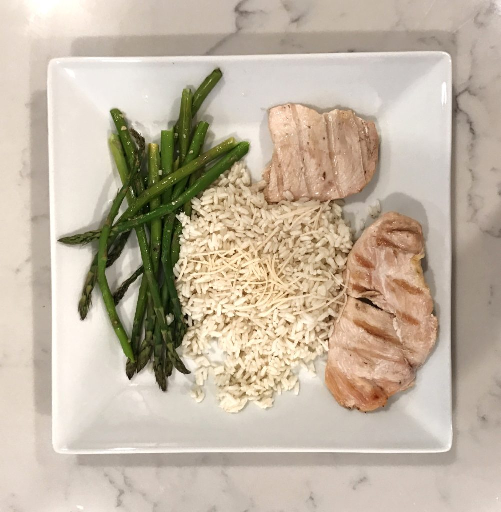 chicken rice asparagus - Living with Hypoglycemia & Vasovagal Syncope by popular New Jersey fitness blogger Fit Mommy in Heels