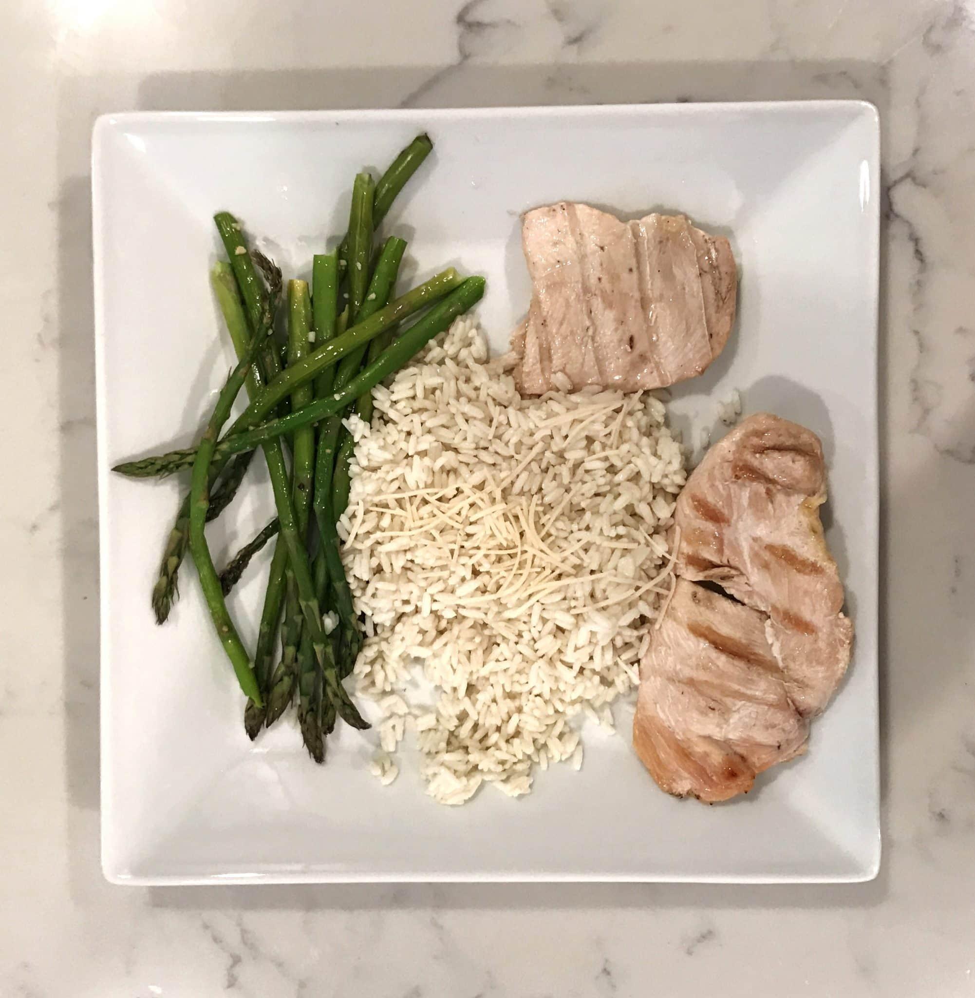 chicken rice asparagus