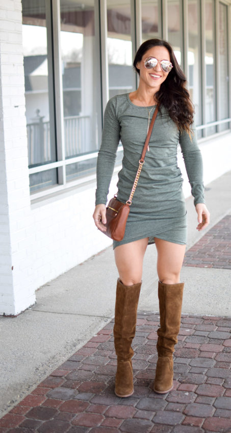 b055f8443519 green dress - Most Flattering Dress EVER by popular New Jersey style  blogger Fit Mommy in
