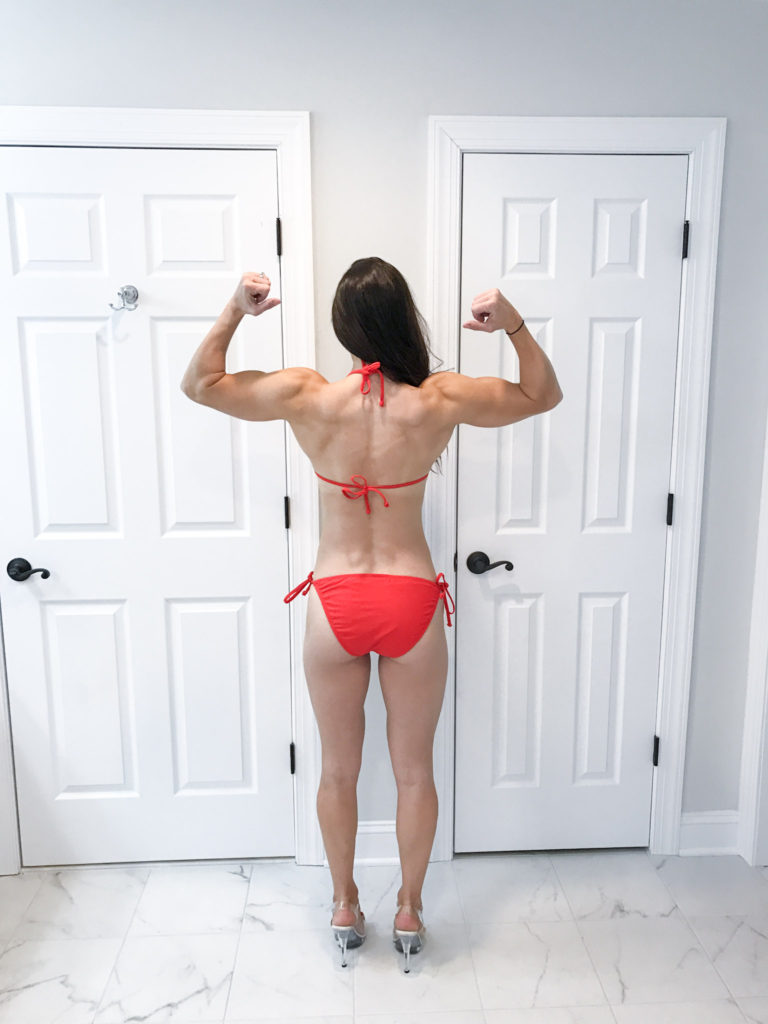 2 weeks out  - Competition Prep Progress by popular New Jersey fitness blogger Fit Mommy in Heels