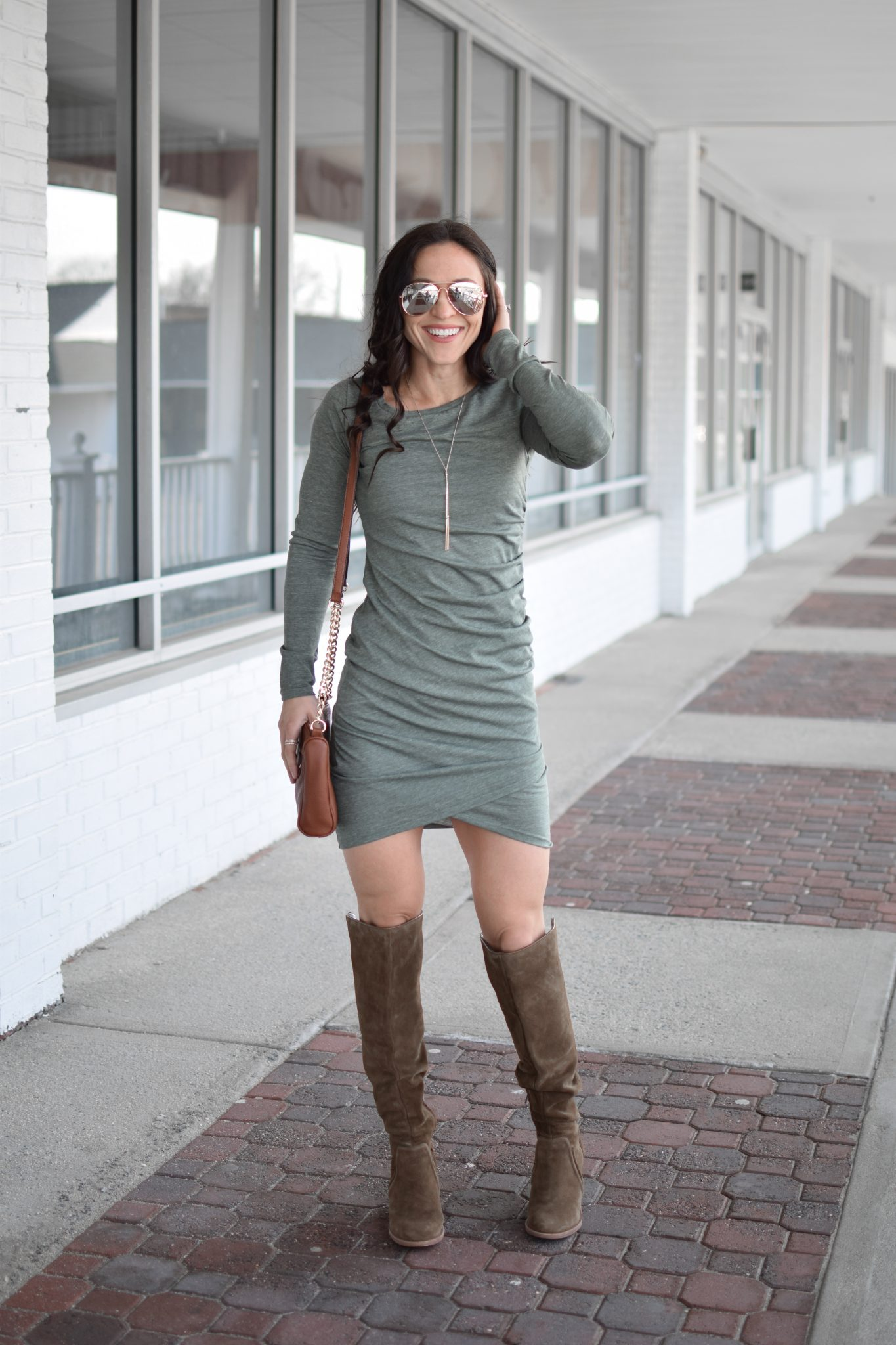leith dress - Most Flattering Dress EVER by popular New Jersey style blogger Fit Mommy in Heels