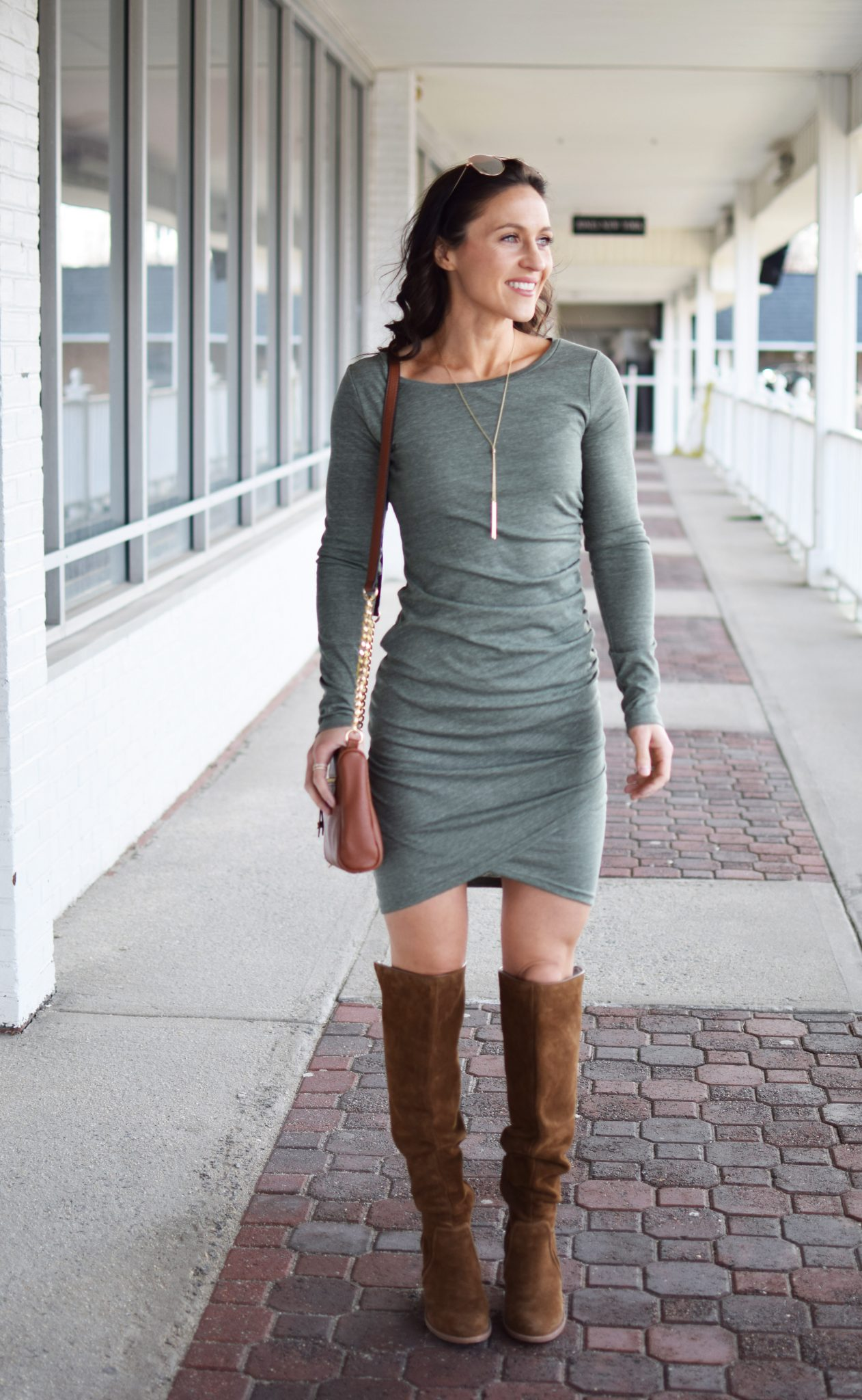long sleeve dress - Most Flattering Dress EVER by popular New Jersey style blogger Fit Mommy in Heels