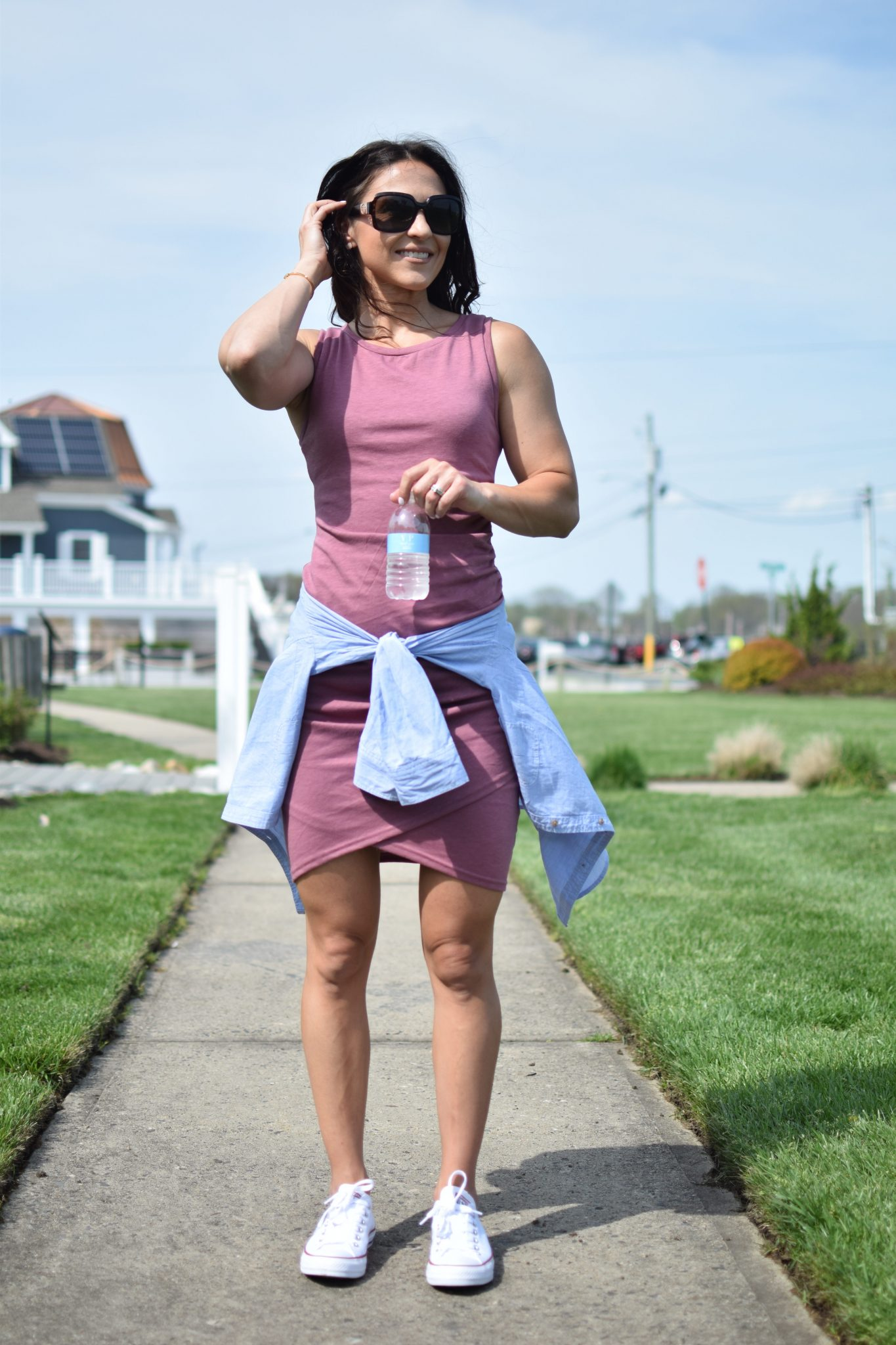 spring dress - 1 Ruched Dress, 3 Ways by popular New Jersey style blogger Fit Mommy in Heels