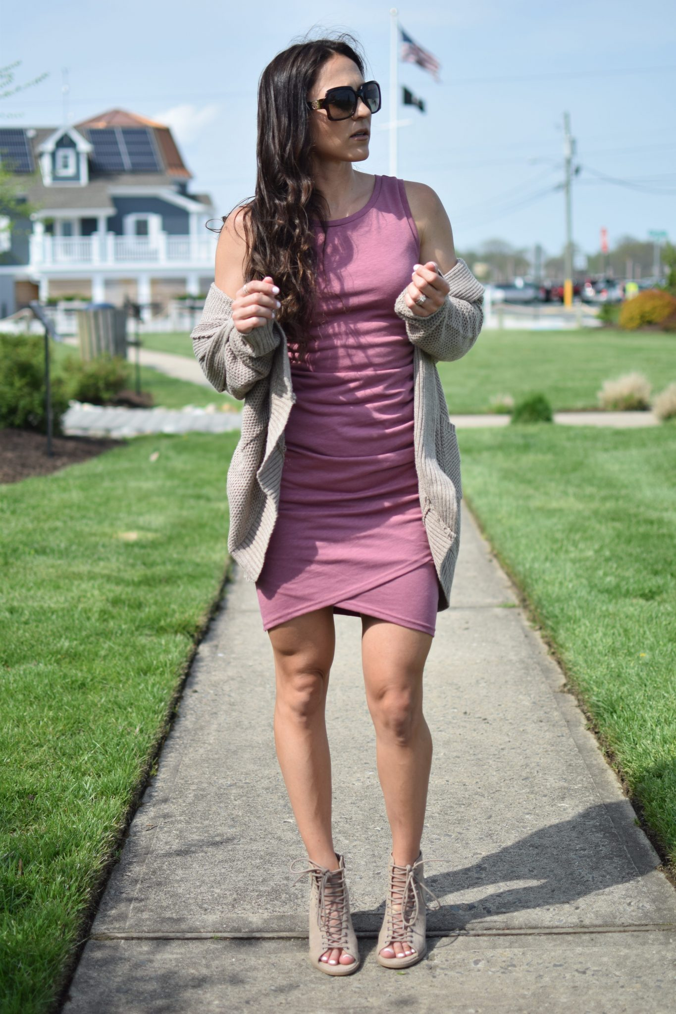 sleeveless dress - 1 Ruched Dress, 3 Ways by popular New Jersey style blogger Fit Mommy in Heels