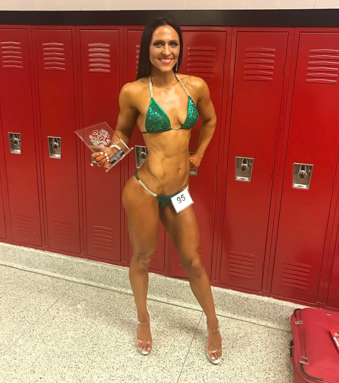 3rd place trophy - NPC John Kemper Classic by popular New Jersey fitness blogger and bodybuilder Fit Mommy in Heels