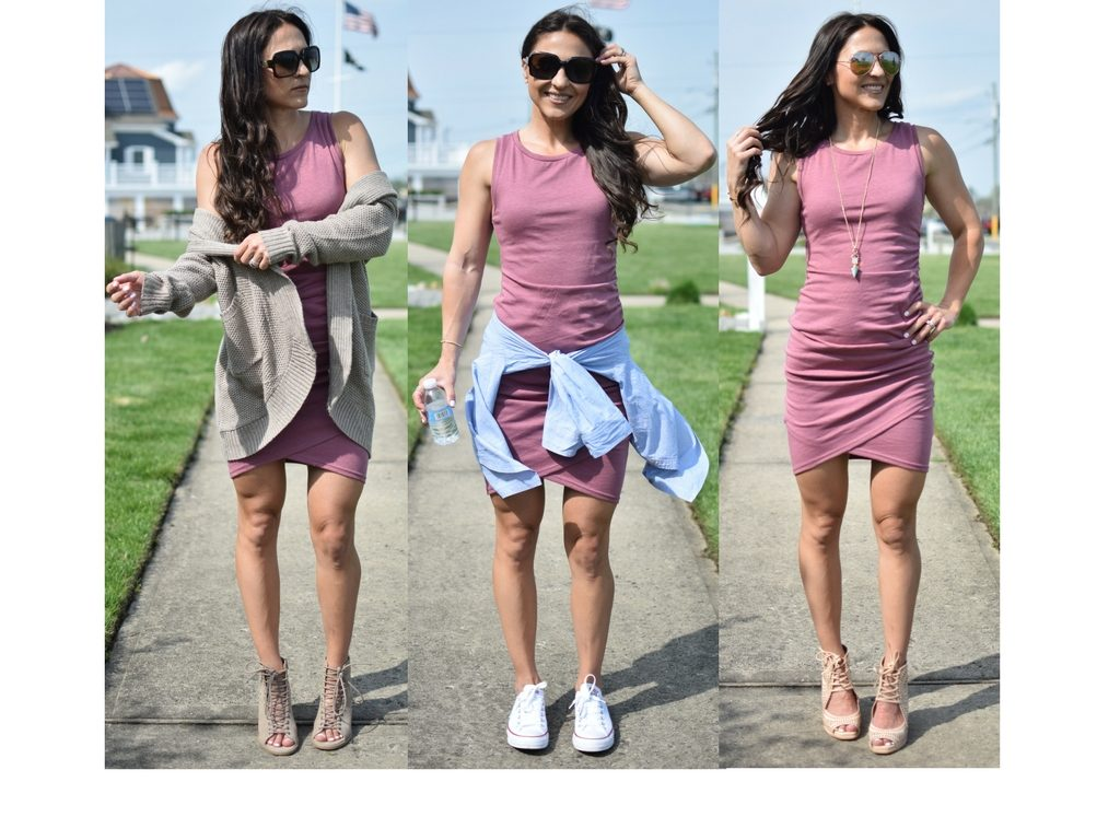 How to: Wear 1 Ruched Dress, 3 Ways!