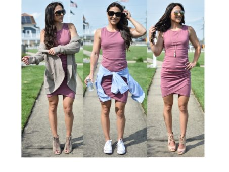 1 dress 3 ways - 1 Ruched Dress, 3 Ways by popular New Jersey style blogger Fit Mommy in Heels