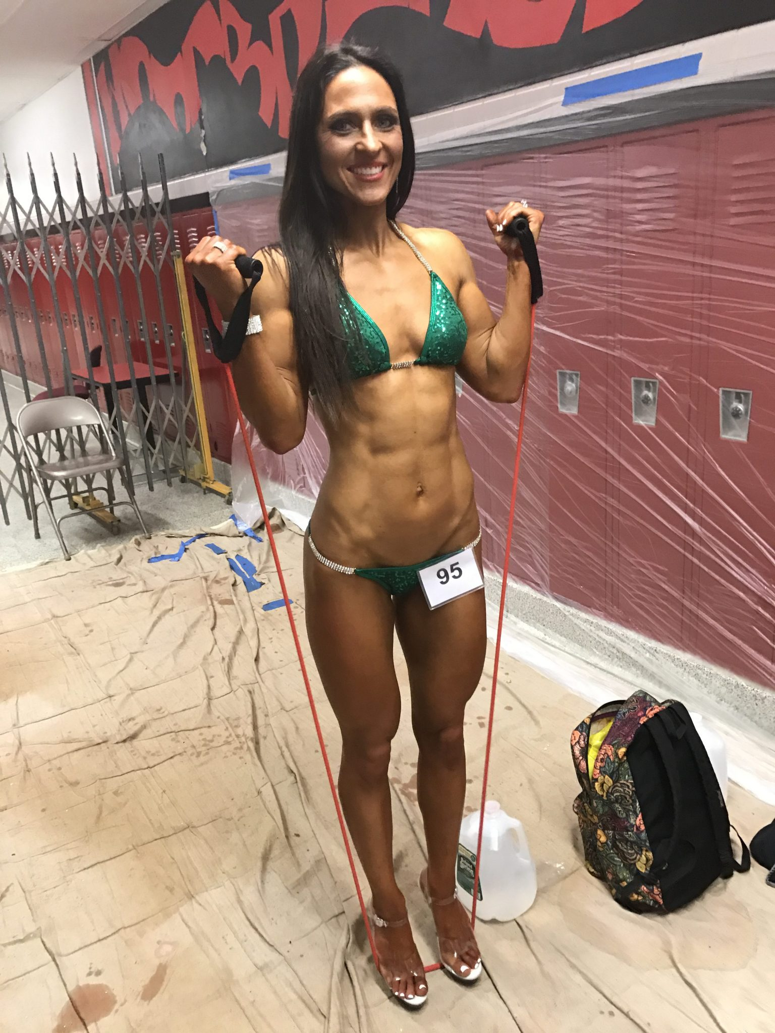 pump ups - NPC John Kemper Classic by popular New Jersey fitness blogger and bodybuilder Fit Mommy in Heels