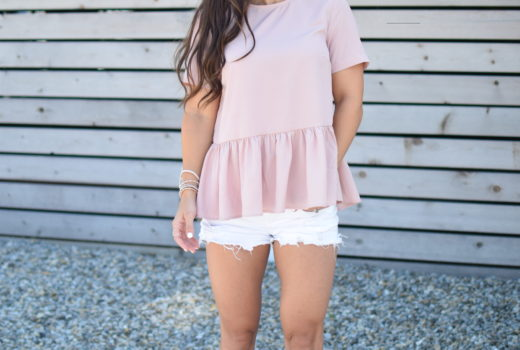 The Pink Peplum Top Every Girl Needs by popular New Jersey fashion blogger Fit Mommy in Heels