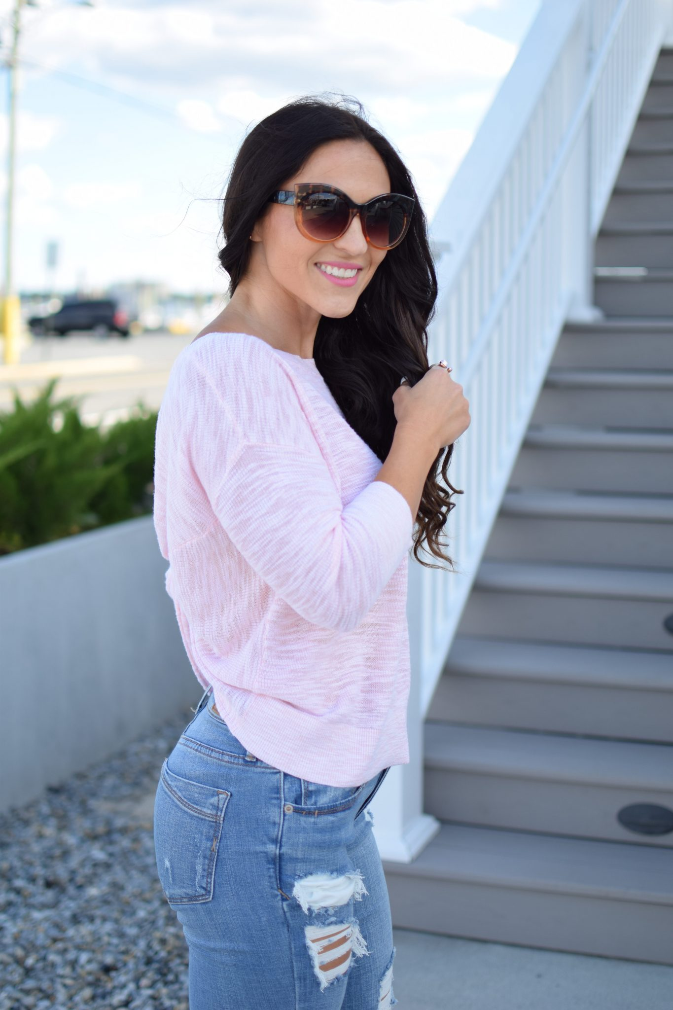 Express Twist Back Sweater by popular New Jersey style blogger Fit Mommy in Heels