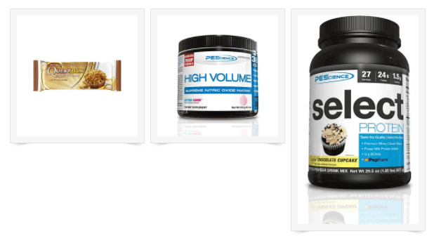 Weekly Workout, Protein Powders, Bars & Pre-Workout