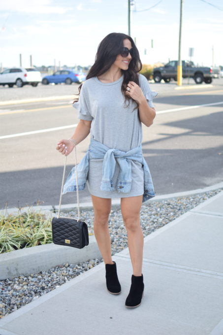 transitional grey dress