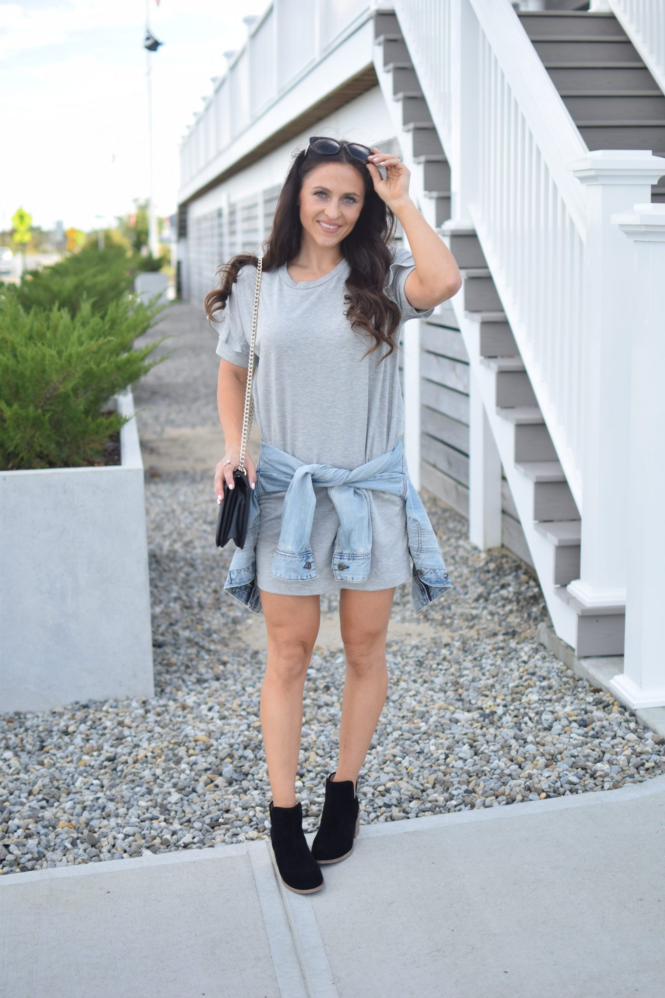 grey tshirt dress