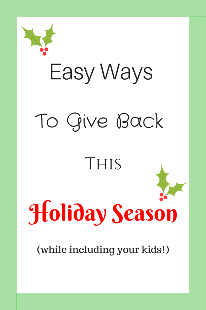 give back for holidays