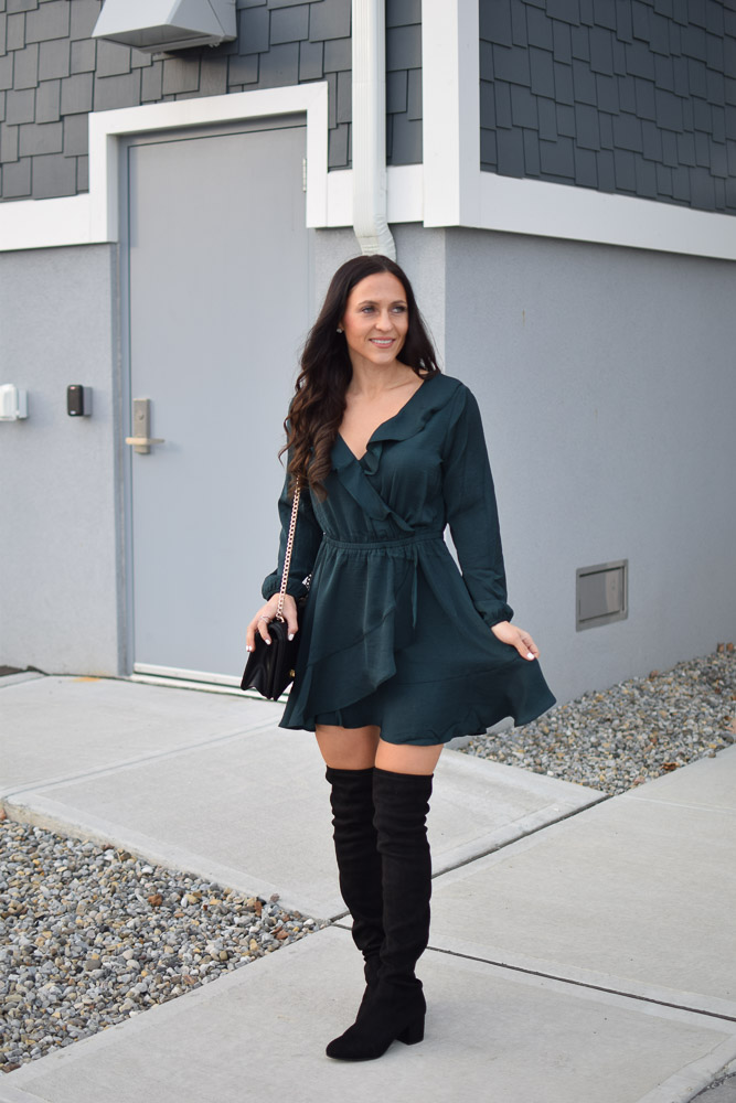 Green Fit & Flare Dress For The Holidays
