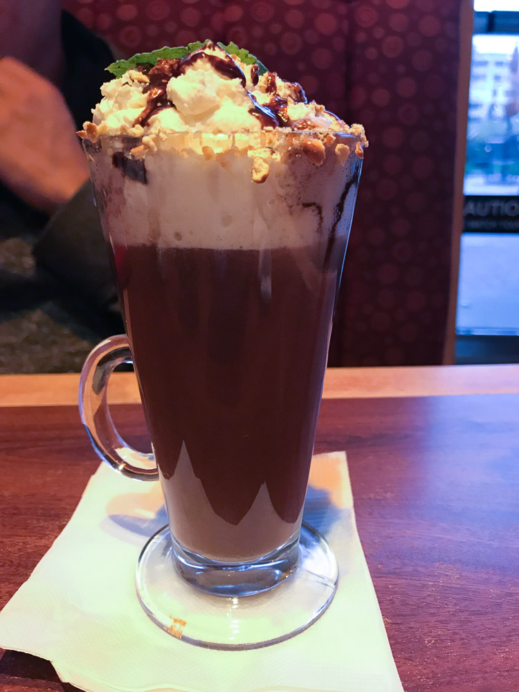 Miss Shirleys Chocolate Drink - A Weekend In Baltimore Maryland with Toddlers - Where to stay, What to eat, Things to do by popular New Jersey lifestyle blogger Fit Mommy in Heels