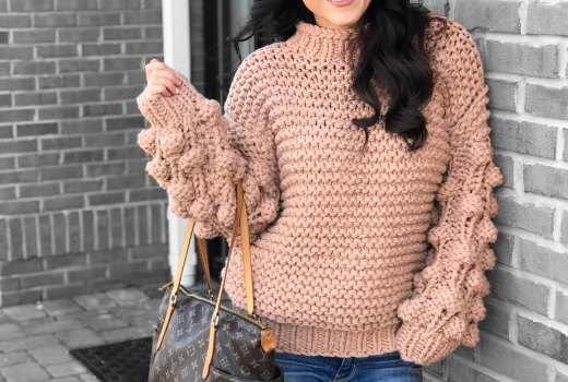 Pom Pom Sweater - The Best Weekend Sales and the Cutest Pom-Pom Sweater by popular New Jersey style blogger Fit Mommy in Heels