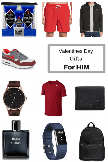 Mens valentines day gifts - t-shirt, watch, sneakers, fitbit, backpack, shorts - 10 Valentines Day Gifts For HIM by popular New Jersey style blogger Fit Mommy in Heels
