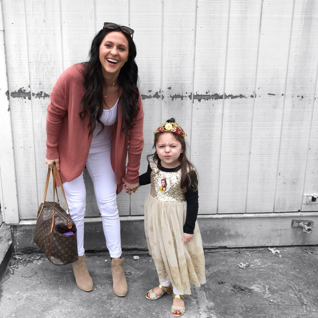 mother and daughter - Maternity Wardrobe Staples by popular New Jersey style blogger Fit Mommy in Heels