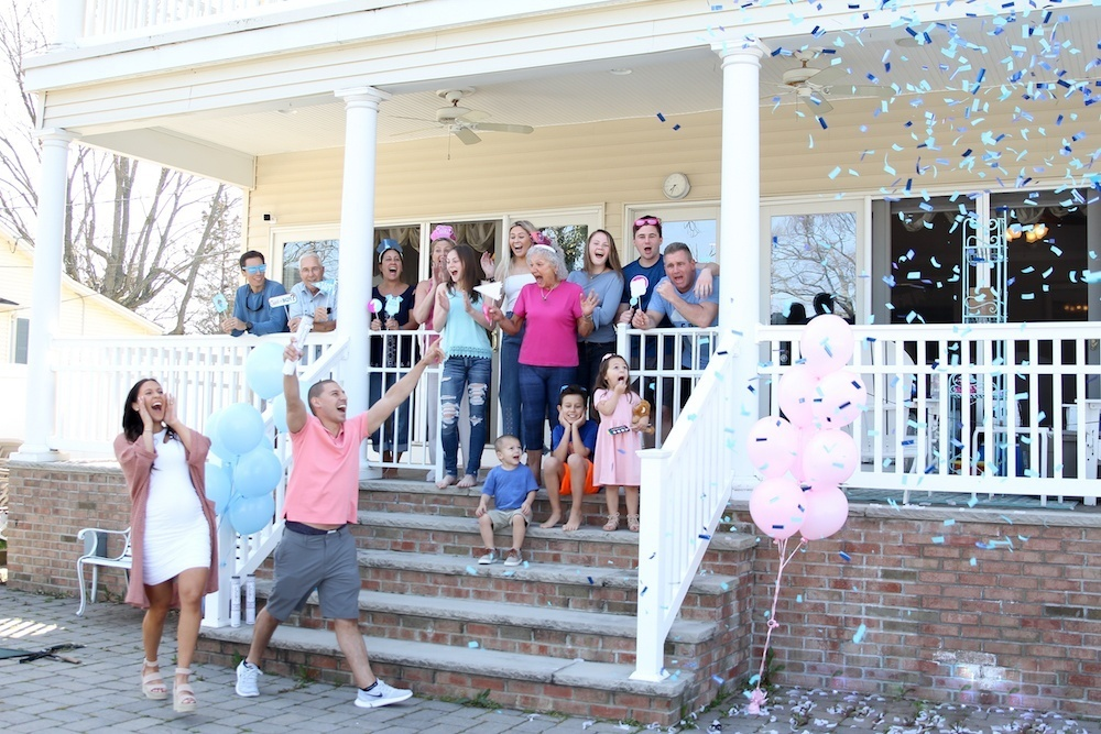 Gender Reveal With Confetti Cannon Roulette