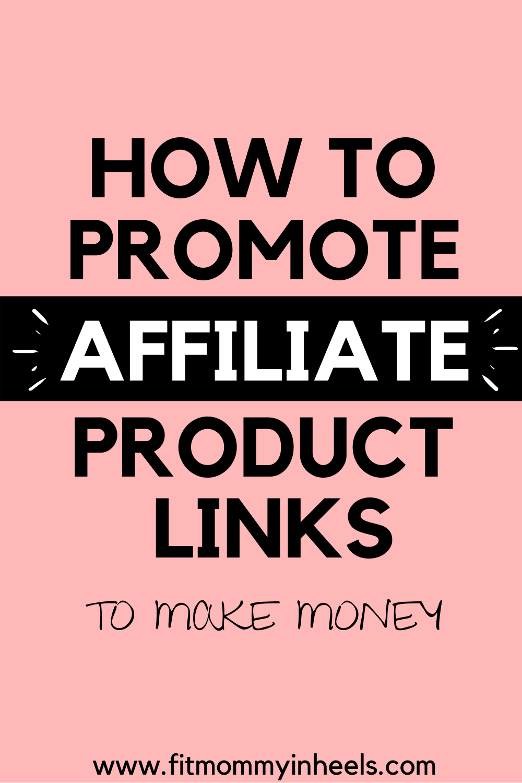make money blogging with affiliate links