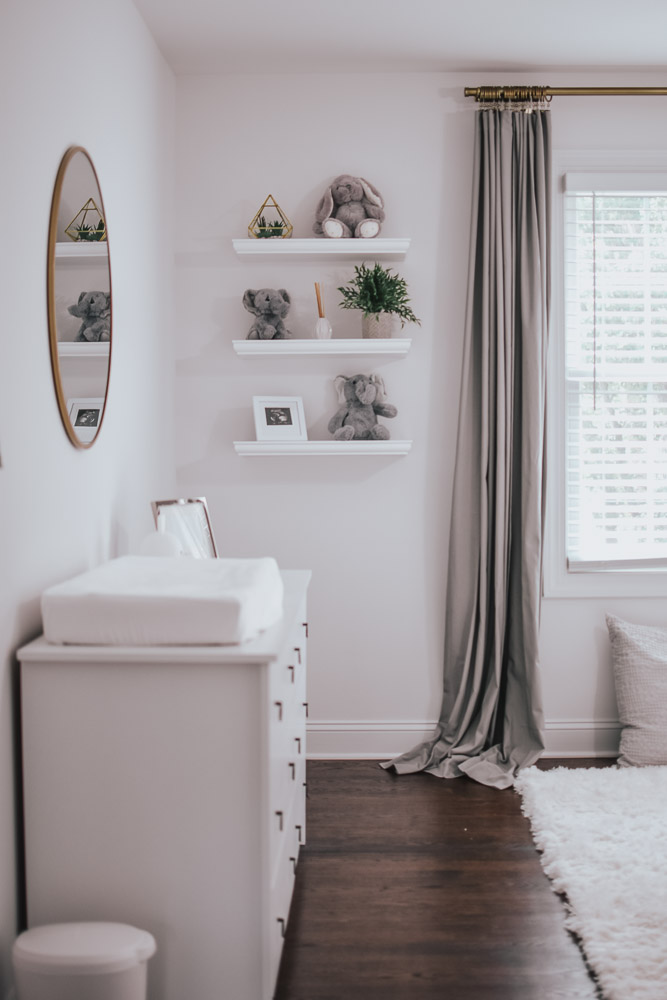 White & Grey Gender Neutral Nursery