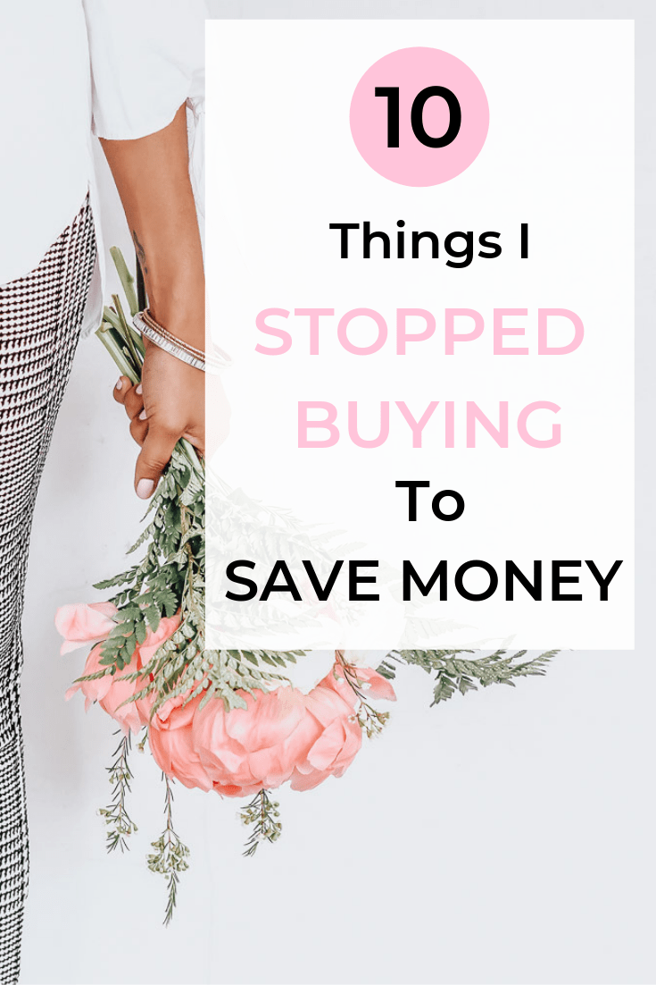 stop buying saving money