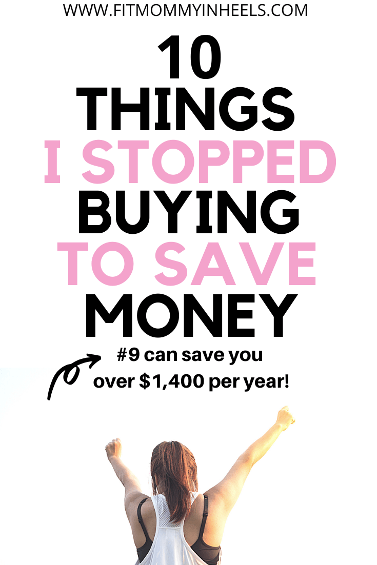 stop buying to save money