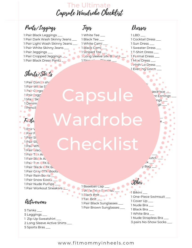 How To Build A Capsule Wardrobe + FREE Capsule Wardrobe Checklist