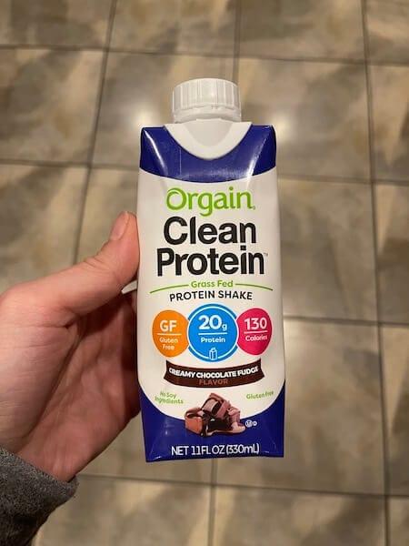 orgain protein shake - healthy walmart snacks