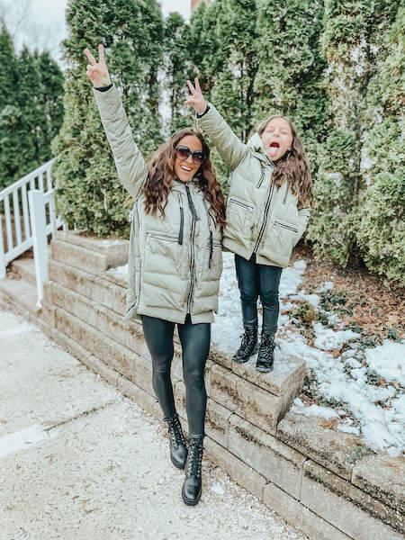 mommy and me matching coats - amazon winter fashion haul
