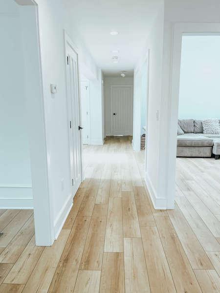 hallways with lvp floors