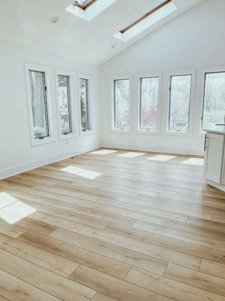 eat-in area with lvp floors - coretec flooring review